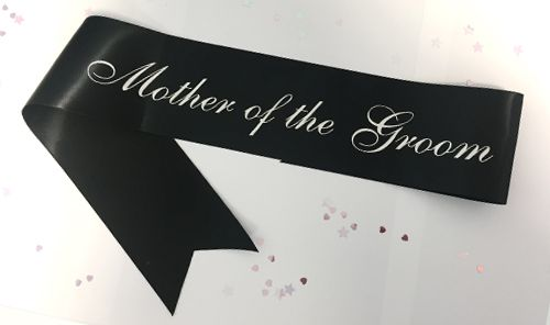 Deluxe Mother Of The Groom Sash - Black