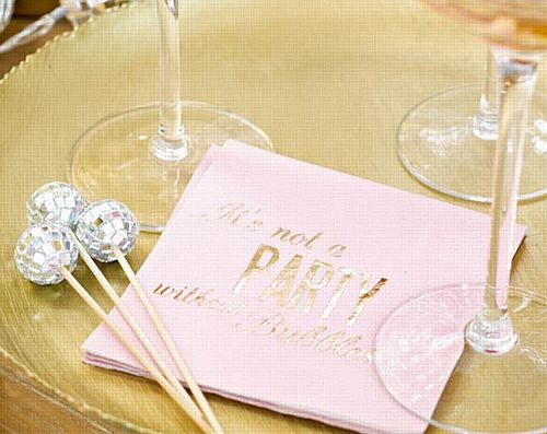 Glitterati Cocktail Napkins - Pack 16