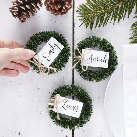 Wreath Name Place Cards - Pack Of 4