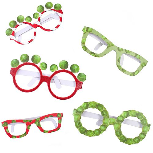 Christmas Sprout Glasses - Pack of 6
