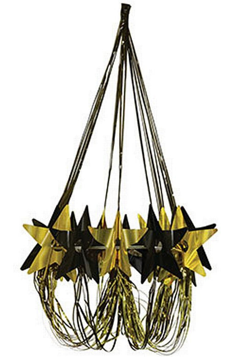 Black And Gold Star Chandelier - 89cm