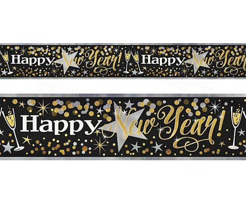 Happy New Year Foil Banner - 12ft