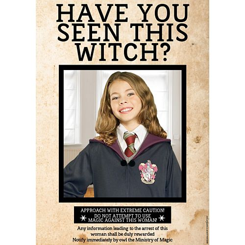 Have You Seen This Witch? Personalised Wanted Poster with Photo - A3