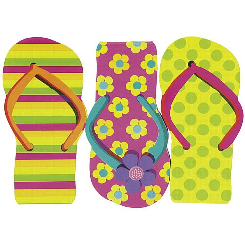 Flip Flop Notepads - Assorted Colours - 11cm - Pack of 12