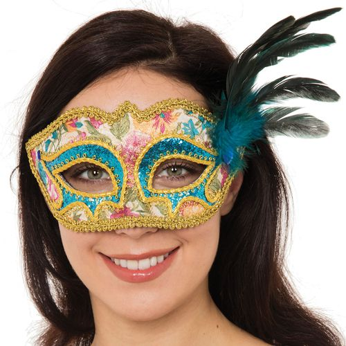 Antoinette Mask With Feather