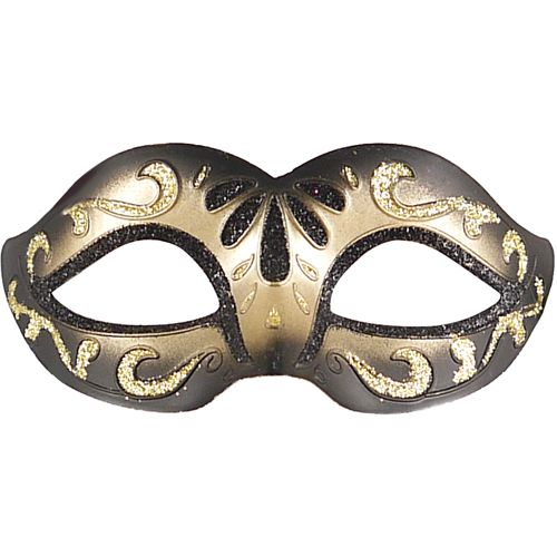 Black And Gold Glitter Eyemask