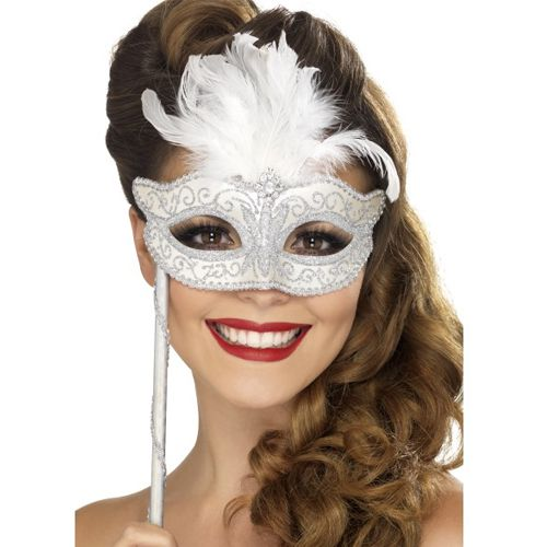Baroque Fantasy Silver Eye Mask