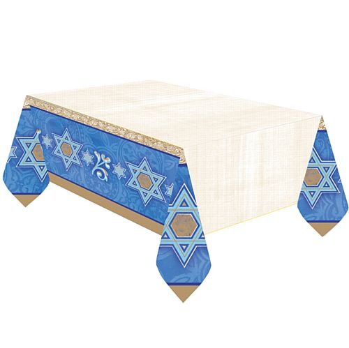 Hanukkah Plastic Tablecloth - 2.59m
