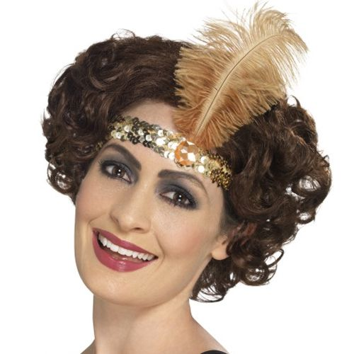 Gold Sequin Flapper Headband