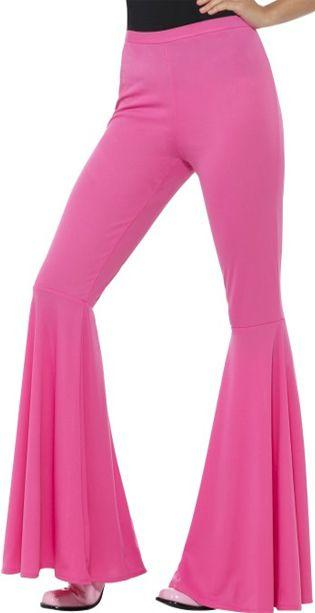 Ladies Pink Flared Trousers