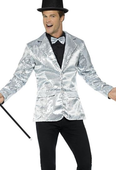 Men's Silver Sequin Jacket