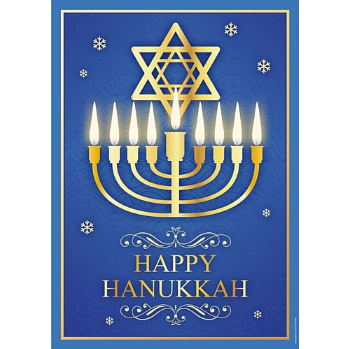 Happy Hanukkah Poster - A3