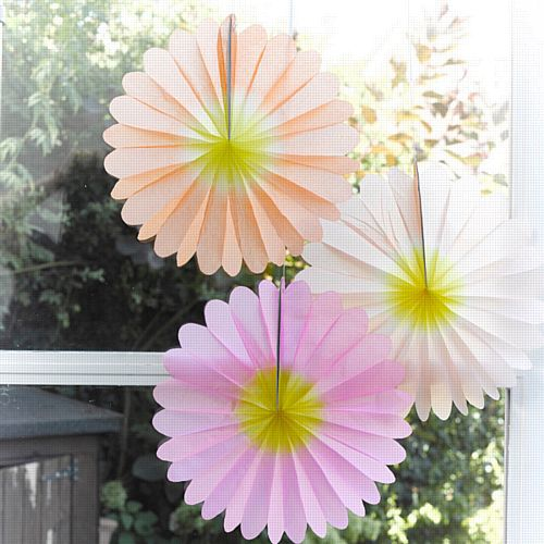 Ombre Flower Paper Fan Decorations