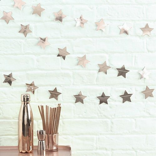 Rose Gold Star Garland - 5m