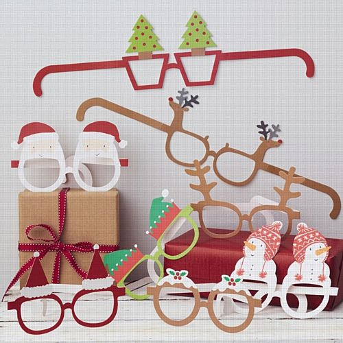 Festive Christmas Themed Funglasses - Pack of 8