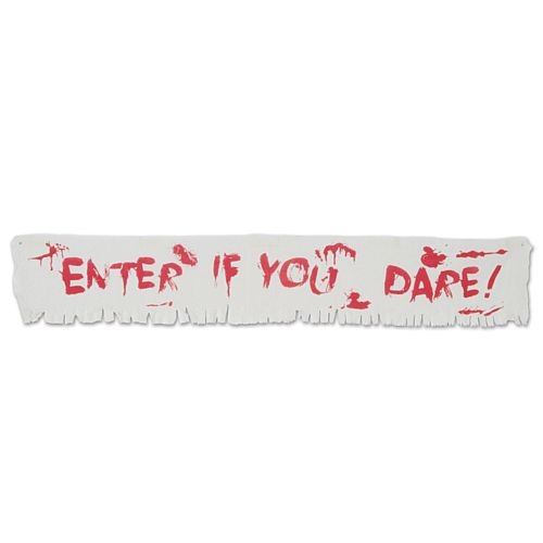 Enter If You Dare! Fabric Banner - 1.8m