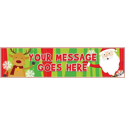 Santa Claus Personalised Banner - 1.2m