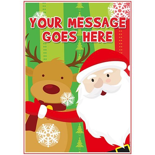 Santa Claus Personalised Poster - A3