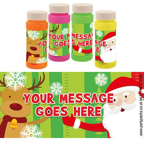 Personalised Bubbles - Santa Claus - Pack of 6