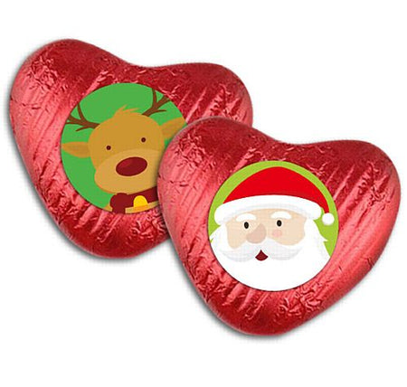 Santa Claus Heart Chocolate Kit - Pack of 24