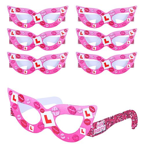 Hen Party Glasses Favours- Pack of 6