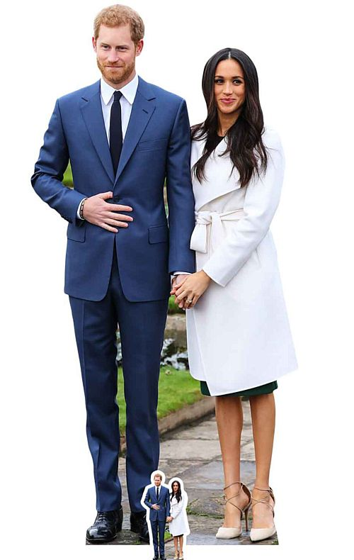 Prince Harry and Meghan Markle Lifesize Cardboard Cutout - 1.86m
