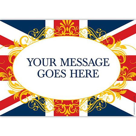 Union Jack Filigree Personalised Poster - A3