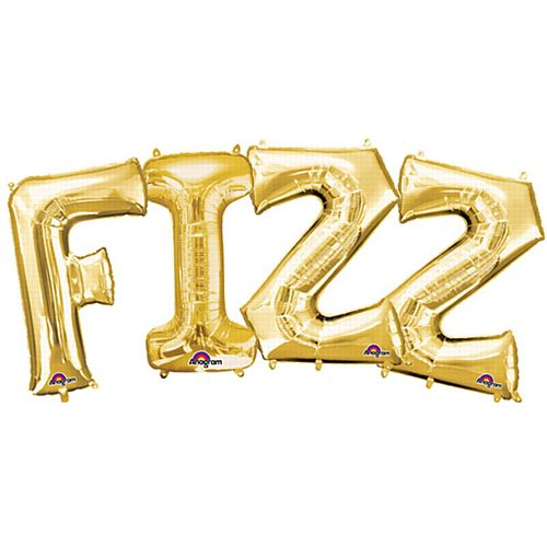 FIZZ Gold Foil Letter Balloon Pack - 40cm