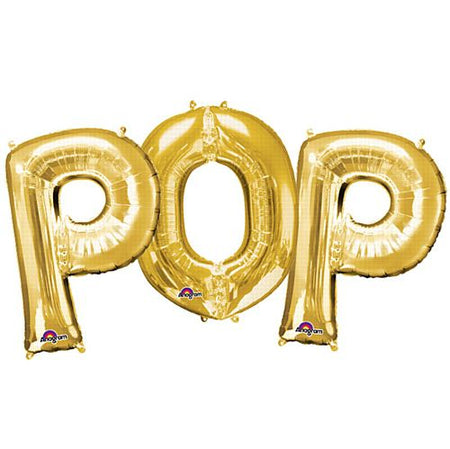 POP Gold Foil Letter Balloon Pack - 40cm