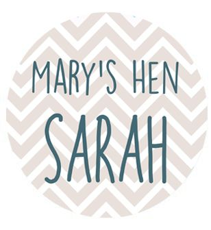 Personalised Chevron Hen Night Badge 58mm - Each