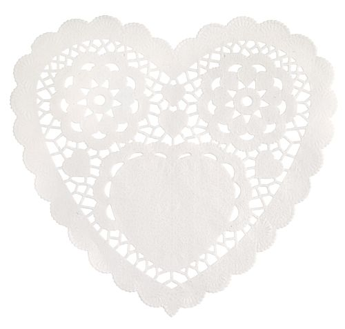 White Heart Doilies - 15.2cm - Pack of 30