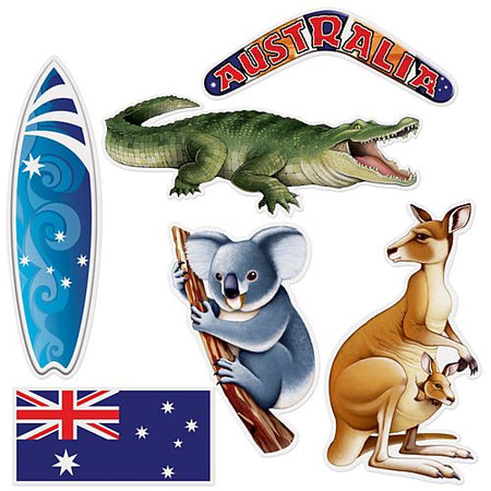 Australian Cutouts - 31cm to 50.2cm - Pack of 6