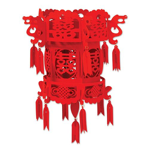 Chinese Palace Lantern Felt Hanging Decoration - 46cm