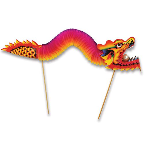 Chinese Dragon 3D Card & Tissue Centrepiece - 66cm - Each