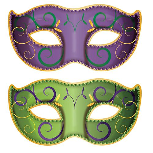 Jumbo Mardi Gras Mask Cutouts - 94cm - Pack of 2
