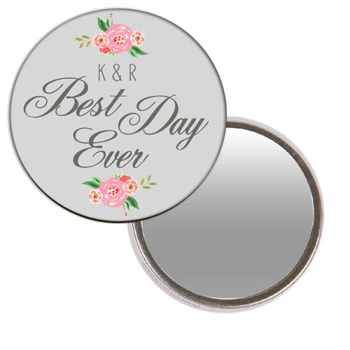 Personalised Pocket Mirror - Best Day Ever Design