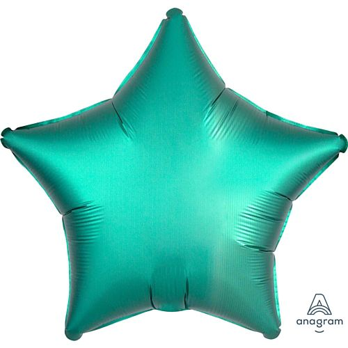 Jade Satin Finish Star Foil Balloon - 18""