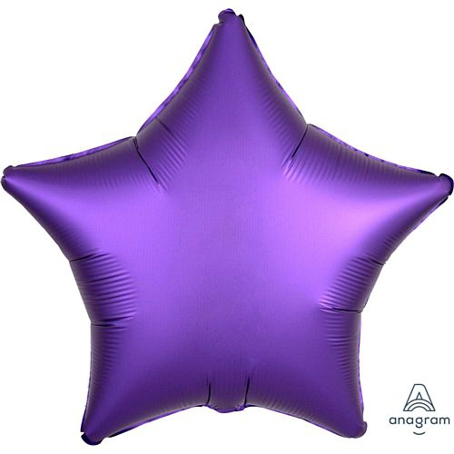 Purple Satin Finish Star Foil Balloon - 18""