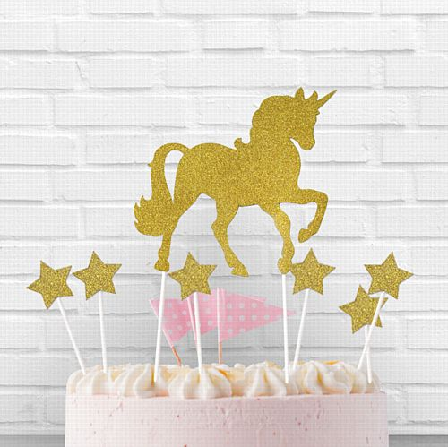 Unicorn Cake Topper - 27.3cm - Pack of 12