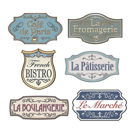 French Shop Sign Cutouts - 31.1cm to 43.8cm