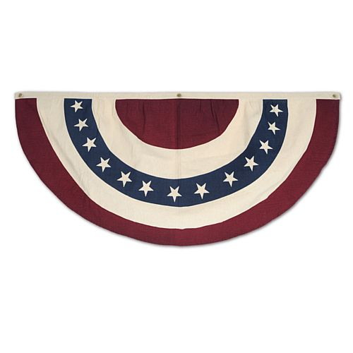 American Stars and Stripes Fabric Bunting - 1.22m