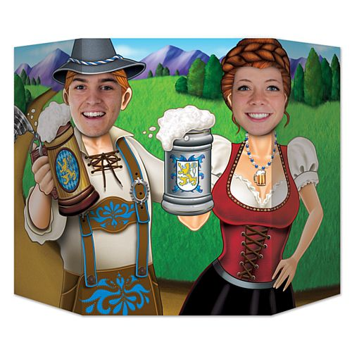 Oktoberfest Couple Stand-In Photo Prop - 94cm