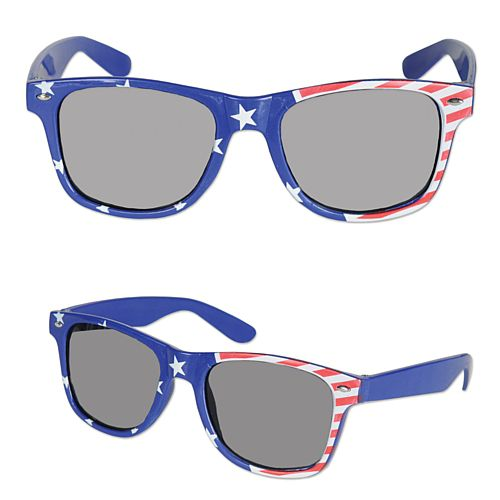 American Flag Patriotic Glasses - Each