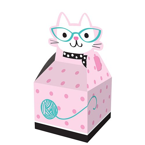 Purrfect Party Cat Favour Boxes - 9cm - Pack of 8