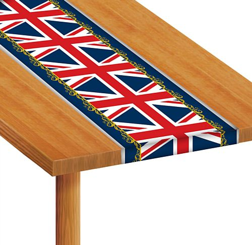 Union Jack Filigree Table Runner - 1.2m - Each