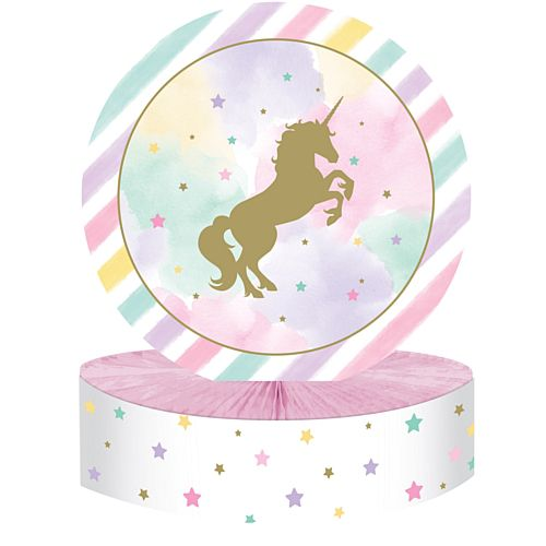 Unicorn Sparkle Honeycomb Centrepiece - 30.5cm
