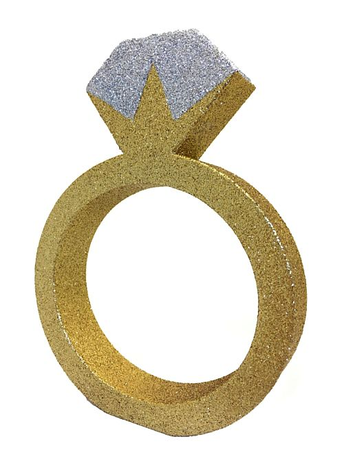 Glitter Engagement Ring Centrepiece - 20cm