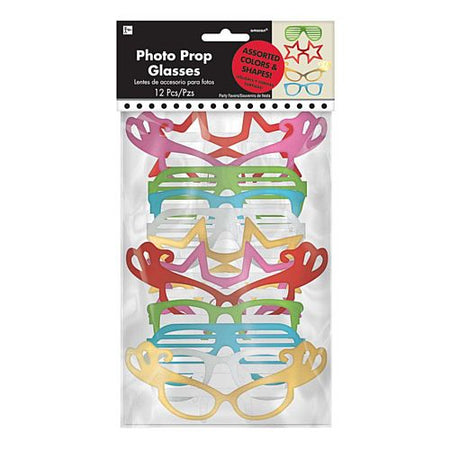 Photo Booth Fun Glasses - Pack of 12