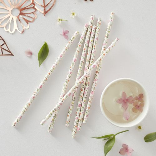 Floral Paper Straws - Ditsy Floral - Pack of 25