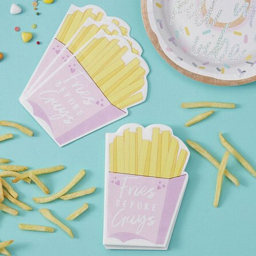 Fries Before Guys Paper Napkins - Good Vibes - Pack of 16